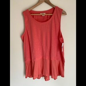 NWTN style & Co coral colored tank